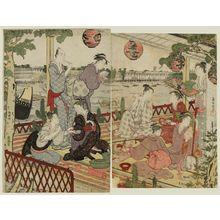 Kubo Shunman: A Party at the Shikian Restaurant in Nakasu - Museum of Fine Arts
