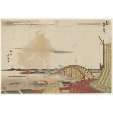 昇亭北壽: View of Ryôgoku Bridge (Ryôgoku no fûkei), from the series The Eastern Capital (Tôto) - ボストン美術館