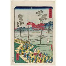 Utagawa Yoshimori: Hamamatsu, from the series Scenes of Famous Places along the Tôkaidô Road (Tôkaidô meisho fûkei), also known as the Processional Tôkaidô (Gyôretsu Tôkaidô), here called Tôkaidô - ボストン美術館