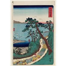 歌川国輝: Shirasuka, from the series Scenes of Famous Places along the Tôkaidô Road (Tôkaidô meisho fûkei), also known as the Processional Tôkaidô (Gyôretsu Tôkaidô), here called Tôkaidô - ボストン美術館