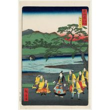 Utagawa Hiroshige II: Excursion to the Kamo River (Kamogawa yûran), from the series Scenes of Famous Places along the Tôkaidô Road (Tôkaidô meisho fûkei), also known as the Processional Tôkaidô (Gyôretsu Tôkaidô), here called Tôkaidô meisho no uchi - Museum of Fine Arts