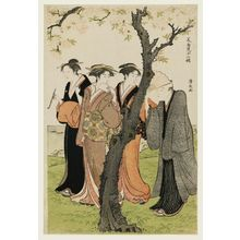 Torii Kiyonaga: The Third Month, from the series Twelve Months in the South (Minami jûni kô) - Museum of Fine Arts
