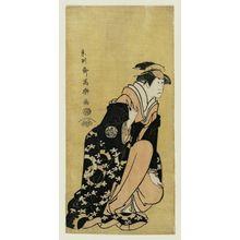 Toshusai Sharaku: Actor Nakamura Kumetarô II as Minato - Museum of Fine Arts