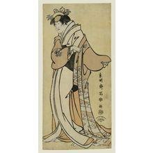 Toshusai Sharaku: Actor Nakayama Tomisaburô as Tsukuba Gozen, wife of Yoshioki - Museum of Fine Arts