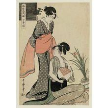 喜多川歌麿: Picture of the Lower Class (Gebon no zu), from the series Three Ranks of Young Women According to Their Fashion (Fûzoku sandan musume) - ボストン美術館
