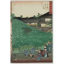 Utagawa Hiroshige II: The Naniwaya Pine Tree at Sakai in Izumi Province (Senshû Sakai Naniwaya no matsu), from the series One Hundred Famous Views in the Various Provinces (Shokoku meisho hyakkei) - Museum of Fine Arts