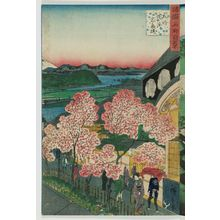 Utagawa Hiroshige II: The Gankirô at Yokohama in Musashi Province (Bushû Yokohama Gankirô), from the series One Hundred Famous Views in the Various Provinces (Shokoku meisho hyakkei) - Museum of Fine Arts