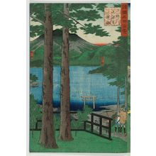 Utagawa Hiroshige II: The Lake at Chûzen-ji in Shimotsuke Priovince (Shimotsuke Chûzen-ji kosui), from the series One Hundred Famous Views in the Various Provinces (Shokoku meisho hyakkei) - Museum of Fine Arts