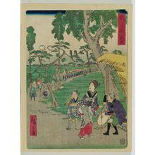 Utagawa Hiroshige II: Fukuroi, from the series The Tôkaidô Road (Tôkaidô) - Museum of Fine Arts