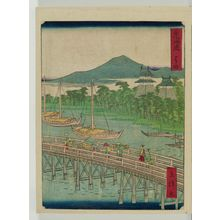 二歌川広重: Yoshida, from the series The Tôkaidô Road (Tôkaidô) - ボストン美術館
