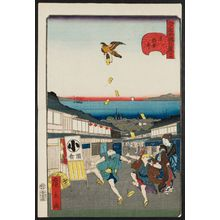 Utagawa Hirokage: No. 27, Meshikura Street in Shiba (Shiba Meshikura-tôri), from the series Comical Views of Famous Places in Edo (Edo meisho dôke zukushi) - Museum of Fine Arts