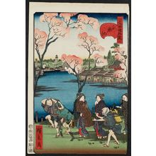 歌川広景: No. 6, Shinobazu Pond (Shinobazu ike), from the series Comical Views of Famous Places in Edo (Edo meisho dôke zukushi) - ボストン美術館