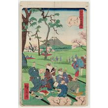 Utagawa Hirokage: No. 5, Cherry-blossom Viewing at Asuka Hill (Asuka-yama no hanami), from the series Comical Views of Famous Places in Edo (Edo meisho dôke zukushi) - Museum of Fine Arts
