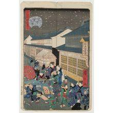 歌川広景: No. 32, Ueno Hirokôji, from the series Comical Views of Famous Places in Edo (Edo meisho dôke zukushi) - ボストン美術館