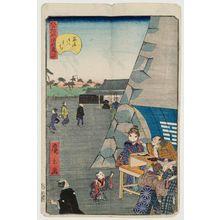 歌川広景: No. 34, Inside Sujikai Gate (Sujikai gomon uchi), from the series Comical Views of Famous Places in Edo (Edo meisho dôke zukushi) - ボストン美術館