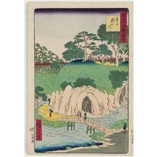 Utagawa Hiroshige III: Waterfall River at Ôji (Ôji Takinogawa), from the series Famous Places in Tokyo (Tôkyô meisho zue) - Museum of Fine Arts