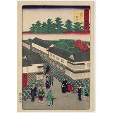 三代目歌川広重: Kasumigaseki, from the series Famous Places in Tokyo (Tôkyô meisho zue) - ボストン美術館