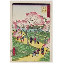 三代目歌川広重: Cherry Blossoms in Full Bloom at Mukôjima (Mukôjima no hanazakari), from the series Famous Places in Tokyo (Tôkyô meisho zue) - ボストン美術館