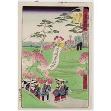 Utagawa Hiroshige III: Cherry-blossom Viewing at Asuka Hill (Asuka-yama hanami), from the series Famous Places in Tokyo (Tôkyô meisho zue) - Museum of Fine Arts