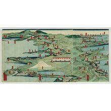 Utagawa Sadahide: Tôkaidô shôkei Nihonbashi kara Arai made - Museum of Fine Arts