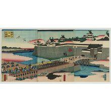 Utagawa Yoshitora: Lord Yoritomo's Entourage Arriving in Kyoto (Yoritomo kô jôkyô gyôsô no zu) - Museum of Fine Arts