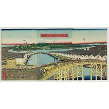 歌川貞秀: View of Nihonbashi Bridge in the Eastern Capital (Tôto Nihonbashi no shôkei) - ボストン美術館