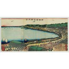 Utagawa Sadahide: View of Takanawa on the Tôkaidô Road (Tôkaidô Takanawa fûkei) - Museum of Fine Arts