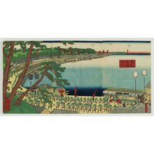 歌川貞秀: View of Takanawa in the Eastern Capital (Tôto Takanawa fûkei) - ボストン美術館