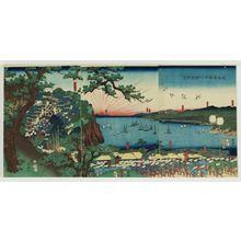 歌川国輝: View of Yokohama in Kanagawa Province on the Tôkaidô Road (Tôkaidô Kanagawa Yokohama fûkei) - ボストン美術館