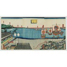 歌川貞秀: View of Arai on the Tôkaidô (Tôkaidô Arai no shôkei) - ボストン美術館