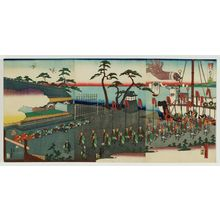 Utagawa Yoshimori: Scenery of Arai, One of the Fifty-three Stages of the Tôkaidô (Tôkaidô gojûsan tsugi Arai fûkei) - ボストン美術館
