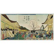 歌川国輝: Lord Minamoto Yoritomo Visits Kyoto (Minamoto Yoritomo kô jôkyô no zu) - ボストン美術館