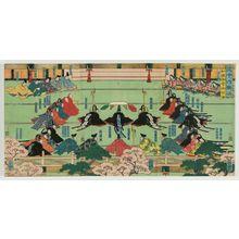 歌川芳艶: The Thirty-six Poetic Immortals (Sanjûroku kasen) - ボストン美術館