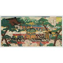 歌川芳艶: View of the Palace and the Kamo Shrine (Ôjô Kamo no yashiro fûkei) - ボストン美術館