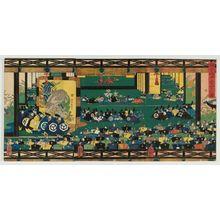 歌川芳艶: Offering Congratulations at the Kamakura Palace (Kamakura denchû keiga no zu) - ボストン美術館