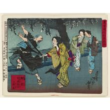 月岡芳年: from the series Famous Places and Humorous Images of Modern Life in Tokyo (Tôkyô kaika kyôga meisho) - ボストン美術館