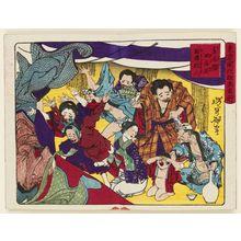 月岡芳年: Sumô Fanatics at the Ekô-in Temple in Eastern Ryôgoku (Higashi Ryôgoku Ekô-in sumô kichigai), from the series Famous Places and Humorous Images of Modern Life in Tokyo (Tôkyô kaika kyôga meisho) - ボストン美術館