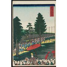 歌川国輝: Fukuroi, from the series Scenes of Famous Places along the Tôkaidô Road (Tôkaidô meisho fûkei), also known as the Processional Tôkaidô (Gyôretsu Tôkaidô), here called Tôkaidô - ボストン美術館