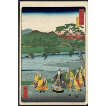 二歌川広重: Excursion to the Kamo River (Kamogawa yûran), from the series Scenes of Famous Places along the Tôkaidô Road (Tôkaidô meisho fûkei), also known as the Processional Tôkaidô (Gyôretsu Tôkaidô), here called Tôkaidô meisho no uchi - ボストン美術館
