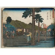Utagawa Hiroshige: No. 44 - Ishiyakushi, from the series The Tôkaidô Road - The Fifty-three Stations (Tôkaidô - Gojûsan tsugi no uchi) - Museum of Fine Arts