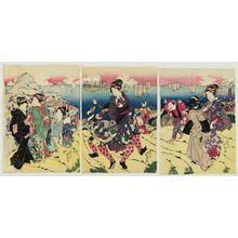 Shunbaisai Hokuei: Women Visiting Tenpôzan - ボストン美術館