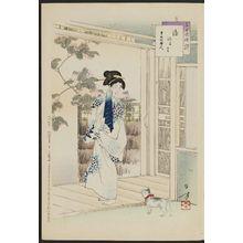 Mizuno Toshikata: After the Bath: Woman of the Kansei Era [1789-1801] (Yuagari, Kansei koro fujin), from the series Thirty-six Elegant Selections (Sanjûroku kasen) - Museum of Fine Arts