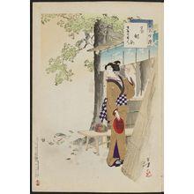 Mizuno Toshikata: Woman of the Hôreki Era [1751-64] (Hôreki koro fujin), from the series Thirty-six Elegant Selections (Sanjûroku kasen) - Museum of Fine Arts
