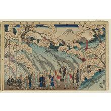 安達吟光: The Old Man Who Made Cherry Trees Bloom (Hana sakashi jiji), from the album Tawamure-e (Playful Pictures) - ボストン美術館
