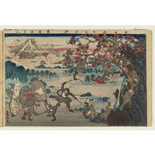 安達吟光: Acrobatics by Monkeys (Saru no karuwaza), from the album Tawamure-e (Playful Pictures) - ボストン美術館