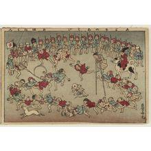 安達吟光: Children's Games (Kodomo no asobi), from the album Tawamure-e (Playful Pictures) - ボストン美術館