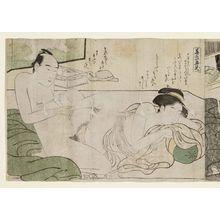 Katsukawa Shuncho: Erotic scenes - Museum of Fine Arts