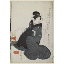 Keisai Eisen: No. 6-15-12, from an untitled series of beauties - Museum of Fine Arts