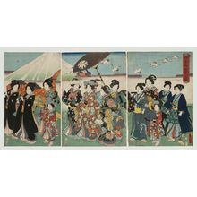 二代歌川国貞: Excursion for a Princess (Himegimi goyûran no zu) - ボストン美術館