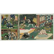 Utagawa Kunisada: Act IV, Twelve Continuous Acts of The Storehouse of Loyal Retainers, a Primer (Kanadehon Chûshingura jûnidan tsuzuki) - Museum of Fine Arts